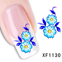 2017 Promotion Nails Manicure 2 Sheet Nail Stickers Flower Simulation Watermark Affixed To The Tube Row Of Pens A Month Xf1130