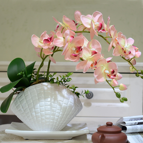 New Arrival Free Shipping Bonsai Artificial Flowers Vanda Butterfly