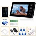 "NEW 7"" LCD Wired Video Door Phone Doorbell Intercom System RFID Keyfobs IR Camera High Grade Waterproof Free Shipping"
