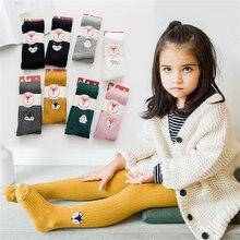 Осень зима 2020 Детские хлопковые брюки для девочек узкие милые
