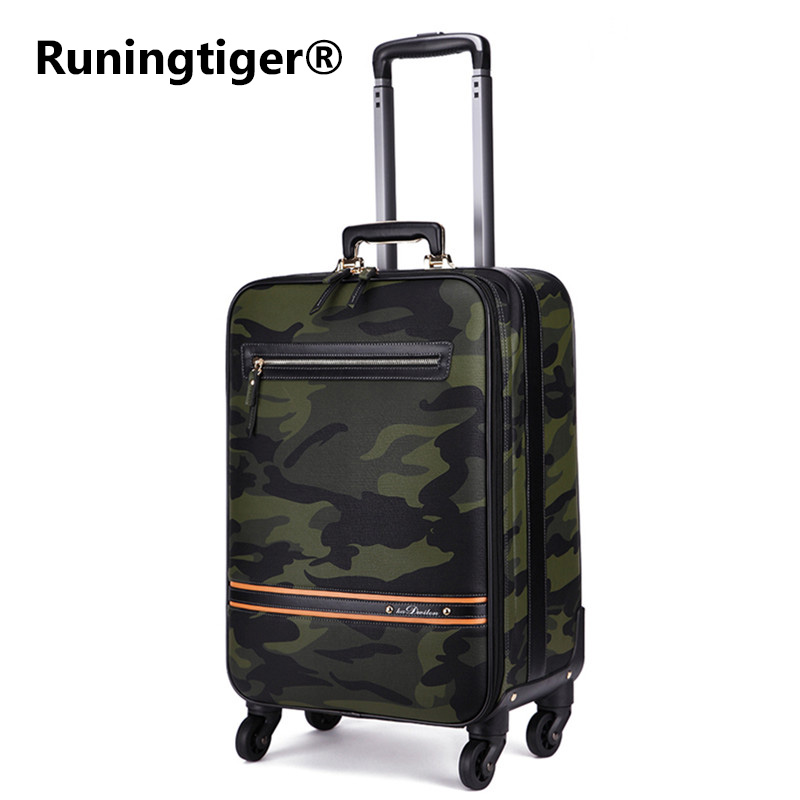 New Rolling Luggage Bag,Camo PU Leather Travel Suitcase,Commercial Trolley case,Fashion wheels Box,Personality Password LockboxNew Rolling Luggage Bag,Camo PU Leather Travel Suitcase,Commercial Trolley case,Fashion wheels Box,Personality Password Lockbox