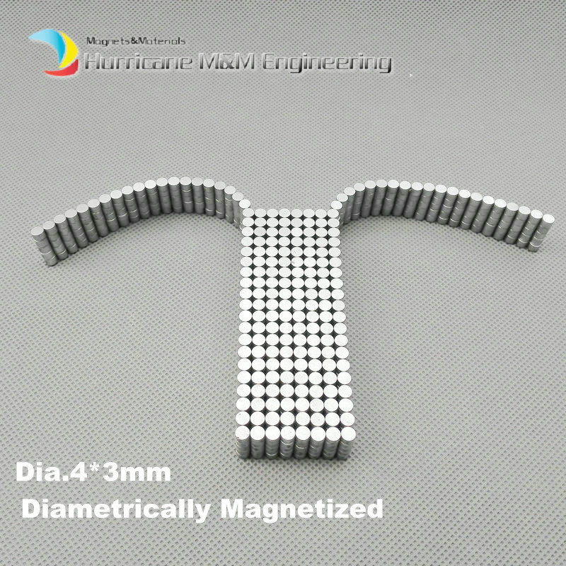 1 pack N35 NdFeB Magnet Disc Diameter 4x3 mm about 0.16'' Strong Neodymium Magnets Diametrically Permanent Rare Earth Magnets 1 pack diametrically ndfeb magnet ring diameter 9 53x3 18x3 18 mm 3 8 1 8 1 8 tube magnetized neodymium permanent magnets