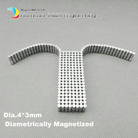 1 Pack N35 NdFeB Magnet Disc Diameter 4x3 Mm About 0 16 Strong Neodymium Magnets Diametrically