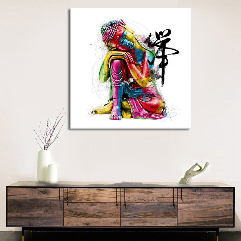 Abstract Buddha Quadros Modern Home Decor Canvas Print