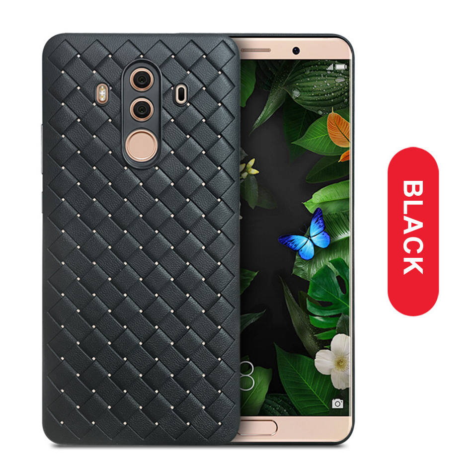 !ACCEZZ Luxury Soft TPU Ultra-thin Protective Back Cover Shell For Huawei Mate1010pro Phone Cases BV Weave Capa Fundas Coque (11)