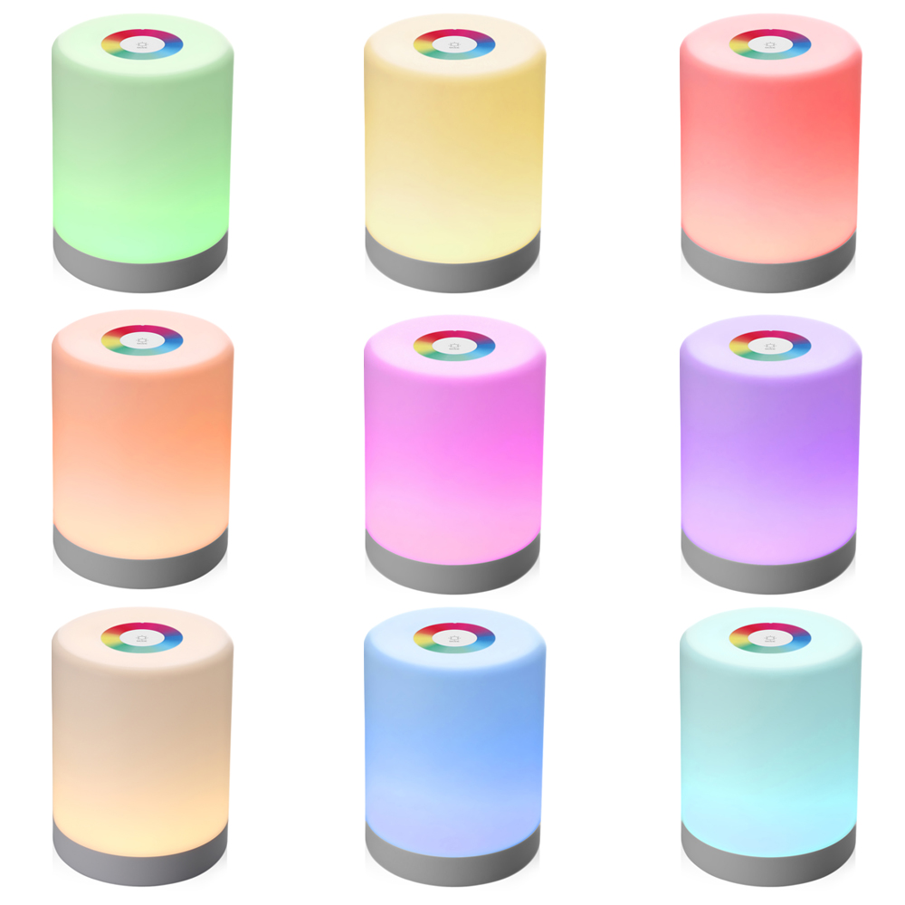 Led Night Light Intelligent Touch Lamp Portable Hook Colorful Induction Dimmer For Table 1pc New In Lights From