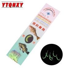 YTQHXY 30pcs/pack Luminous Fishing Hook 12-18# Barbed Hooks Pesca High Carbon Steel  Fishhooks Pesca Tackle Accessories YE-36