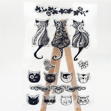 JC Rubber Stamps Scrapbooking Cats Sheet Silicone Seals Craft Stencil Album Clear Paper Card Making Template Decor
