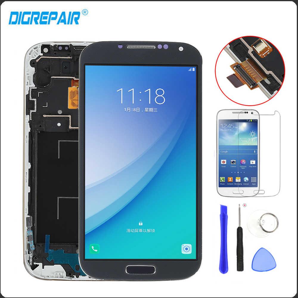 لسامسونج غالاكسي S4 i9505 Lcd تعمل باللمس محول الأرقام الجمعية الإطار استبدال i9505 شاشة LCD ل غالاكسي S4