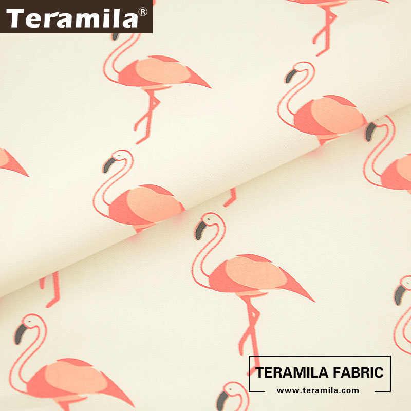 Хлопок teramila ткань белый низ материал Patchwrok саржа жир четверть шитье красно-коронованный журавль дизайн Tecido Tela