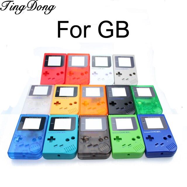 14 צבעים זמינים משחק החלפת מקרה פלסטיק מעטפת כיסוי עבור Nintendo GB עבור Gameboy קלאסי קונסולת מקרה דיור