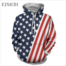 2017 new winter camouflage American flag printed Hoodie hooded couple long sleeved casual