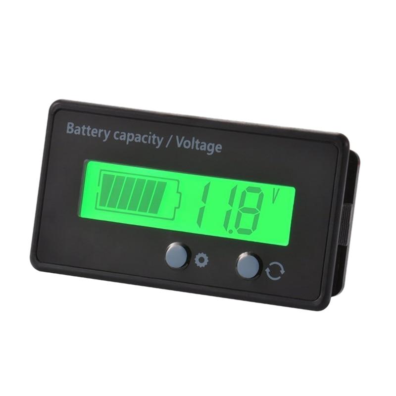 Lcd Battery Capacity Monitor Gauge Meter,Waterproof 12V/24V/36V/48V Lead Acid Battery Status Indicator,Lithium Battery Capacit
