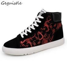 Winter New Arrivals Men Fashion Shoes Comfortable Trendy Casual Shoes Student All-Match Graffiti Shoes