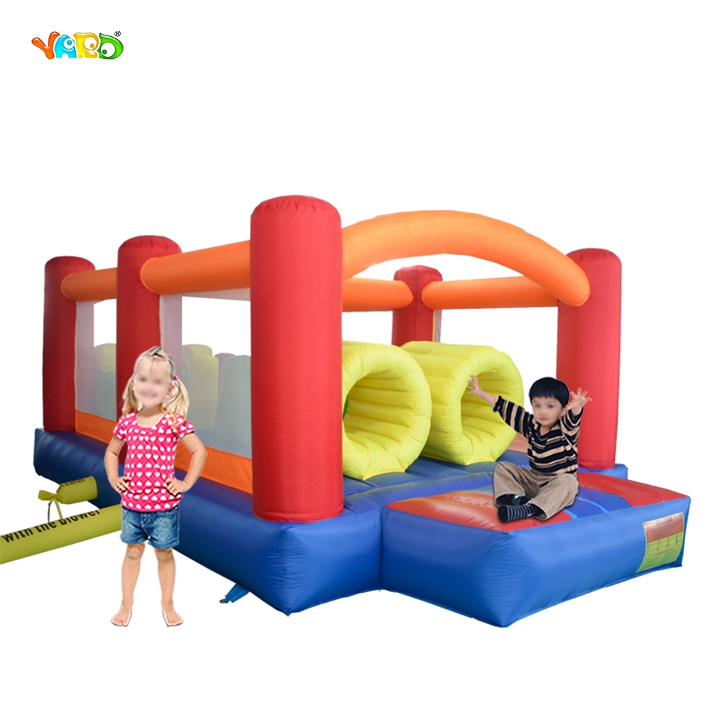 цена на YARD Home Use Inflatable Toys Kids Bounce House Jumping Castle Obstacle Course Slide Combo Special Offer for Asia