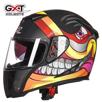 1b1f08d7d14 GXT de la motocicleta de alta calidad Moto Casco cara completa carreras de Moto  invierno Moto Casco Capacete