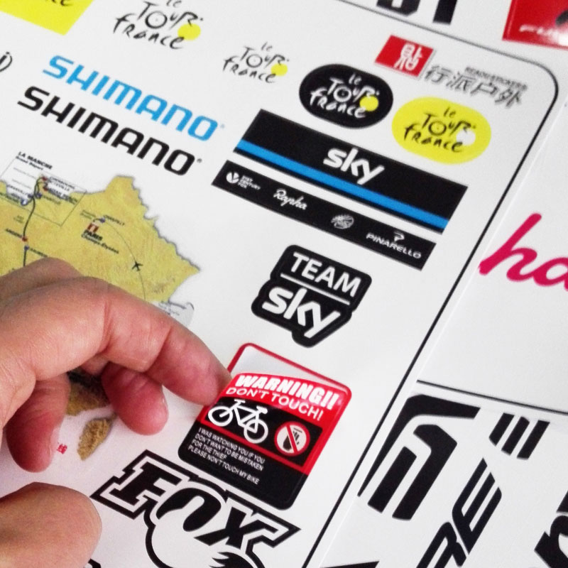 MTB Bike road Bicycle Sticker decoration Stickers Anti-scratch stickers Waterproof Decal for Outdoor Sports Accessories cycling sticker lovers road bike swim run ironman triathlon sports vinyl decal for suv truck car window bumper home wall