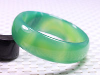Free shipping 67MM VERY FINE RARE NATURAL GREEN WHITE JADEITE BRACELET BANGLE #B401 a