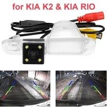 Night Vision Car Rear View Câmera Reversa Estacionamento Retrovisor Backup Para Kia K2/RIO/Sedan com o Guia de Linha à prova d' água