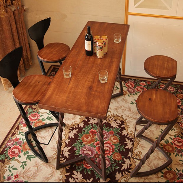 American Iron Wood Bar Stools Restaurant Chairs The New Creative To Do The  Old Retro Coffee