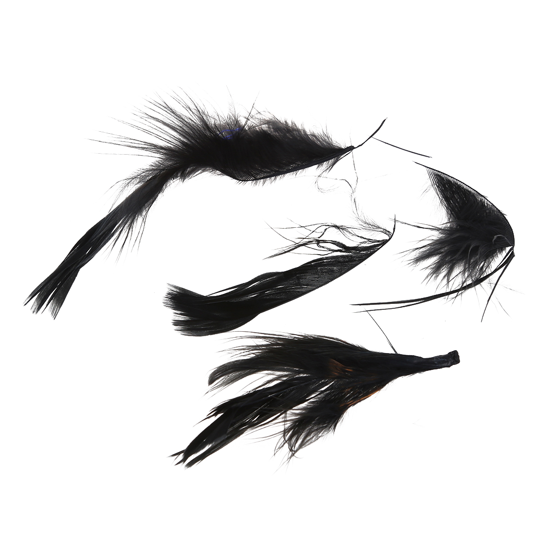 Feather of Boa Black Fluffy Decoration Craft 6.6 Feet Long