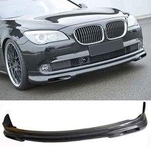 H Стиль углеродного волокна переднего бампера для губ спорта, пригодный для BMW 7 серии F01 f02 730i 740i 750i