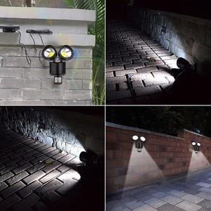 Image 5 - Binval שמש מנורת 2 ראש חיישן עמיד למים 22LED גן חיצוני פאטיו חצר שמש LED אורות גן קישוט