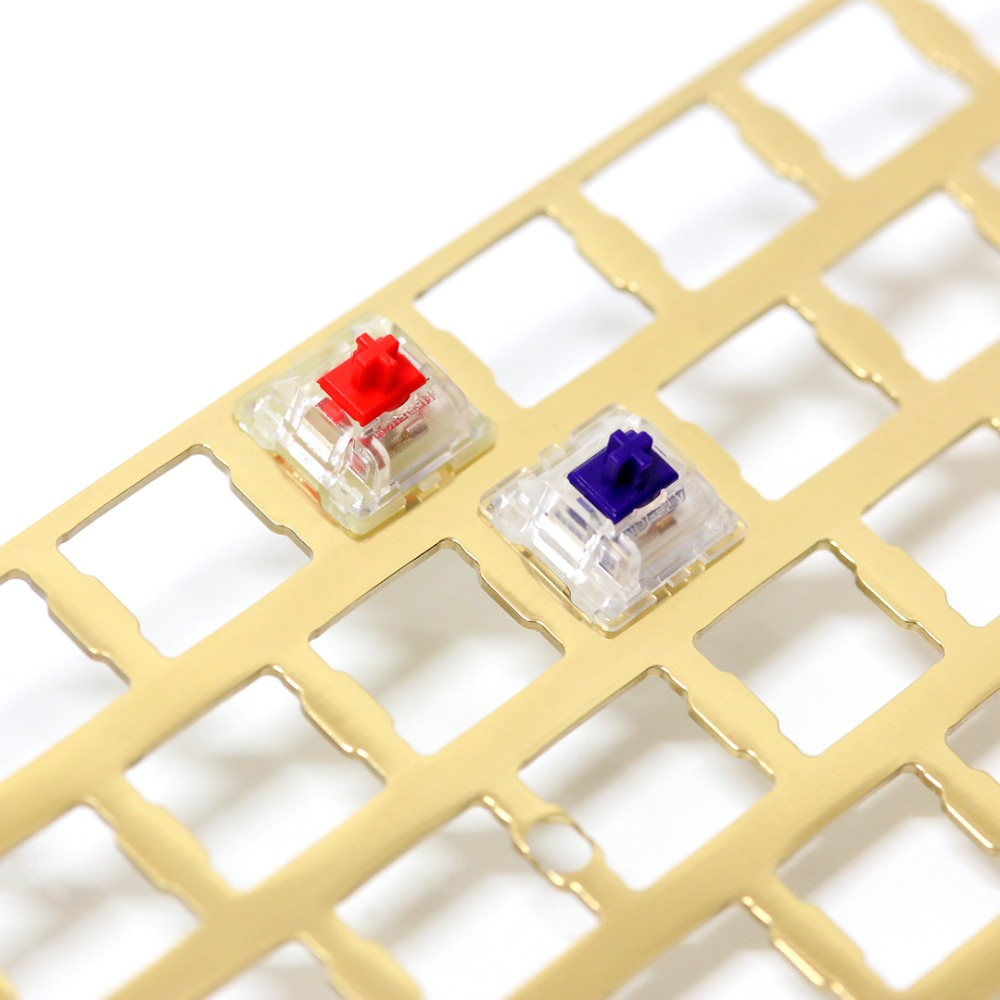 KBDfans nouveauté délié finition laiton 60% plaque bricolage clavier mécanique