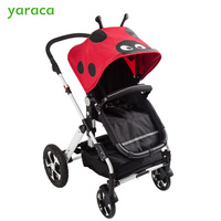 2 in 1 Baby Stroller Folding Baby Carriage For Newborns Travel System Baby Carts Cartoon Pattern Trolley Prams For Kids