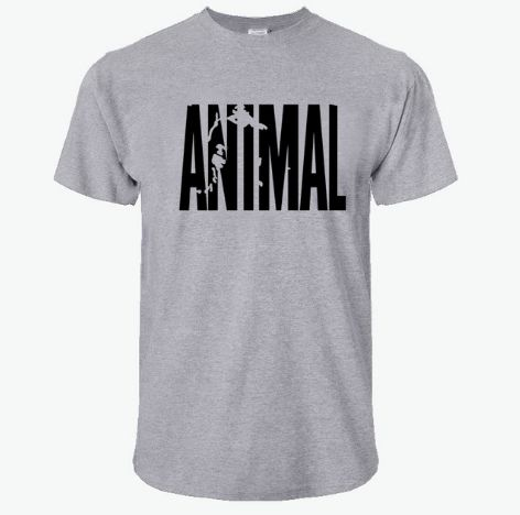 2018 hot ANIMAL T Shirt men cotton round collar muscle exercise fitness strong and handsome mens T-shirt trends cotton brand top
