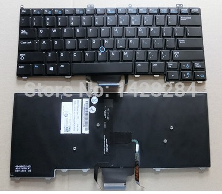 original Free Shipping Brand new US Keyboard With backlit For DELL Latitude E7240 E7440 Laptop new keyboard for dell studio 1745 us version black laptop keyboard with backlight free shipping