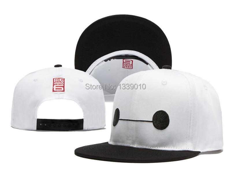 Baymax Snapback Hat White Cute Snapbacks Big Hero 6 Snap Back Caps 2015 New  Snap Backs Hat Cool Hip Hop Cap Summer Flat Hat-in Baseball Caps from  Apparel ... 9499d1d603a