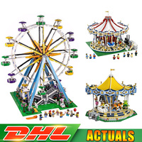LEPIN 15012 City Expert Ferris Wheel 15013 City Street Carousel 15036 Carousel Building Blocks Bricks Clone 10247 10196 10257