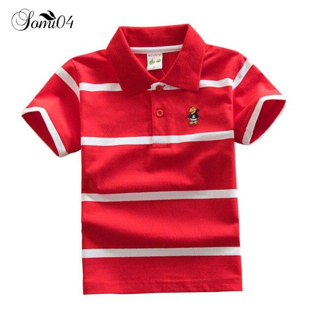 Niños Polo de manga corta Camisa de rayas ropa 2018 muchachas del verano  muchachos nueva moda 5ef98bef1225e