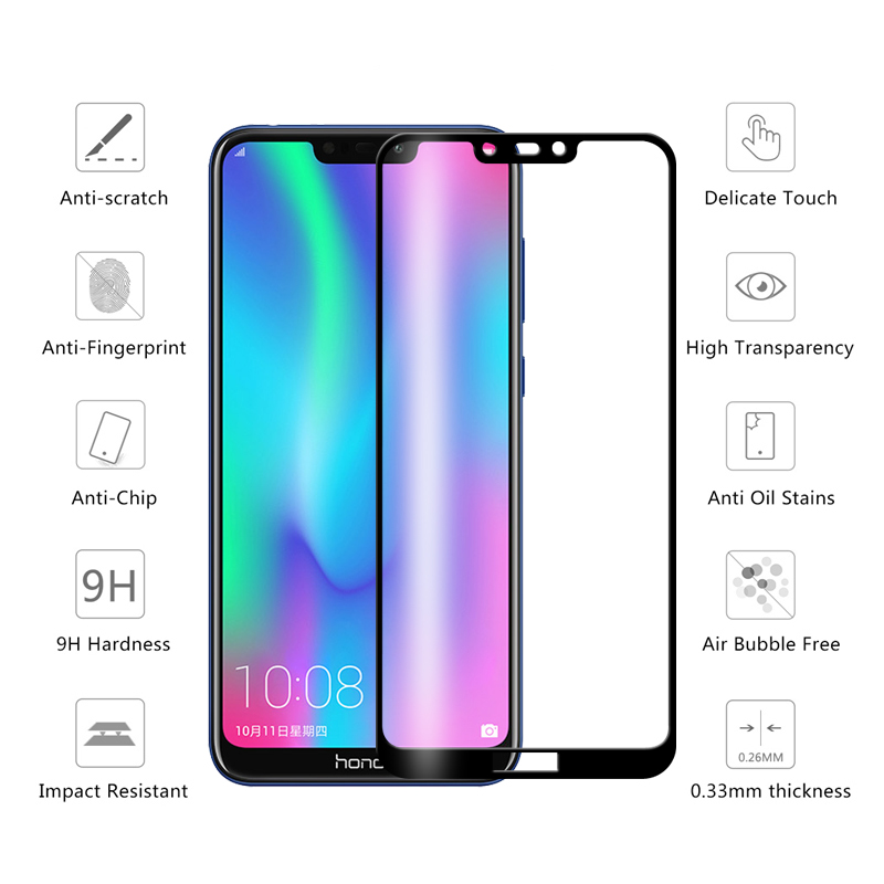 Image 5 - Protective Glass honor 8c 8 lite 8a 8s screen protector on for huawei 8lite Glass honor 8 light 8s 8c tempered film honer huawey-in Phone Screen Protectors from Cellphones & Telecommunications