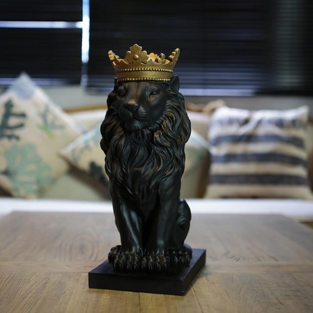 Negro dominante Rey León estatua exquisito salvaje africano el León ...