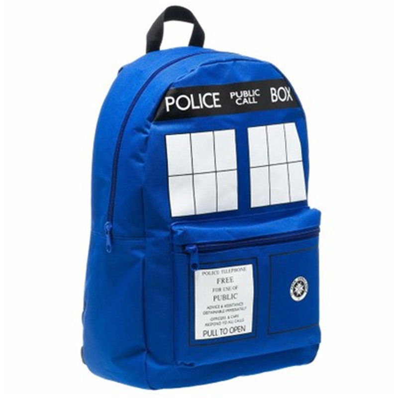 цена на Doctor Dr Who Men's Tardis Backpack Police Box Bag Good Quality In Stock MovieGifts for young people Double Shoulder Bag