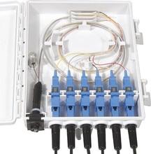 FTTH caja de terminación de fibra de 6 núcleos, divisor de 6 puertos, caja de divisor óptico de fibra para interiores y exteriores, FTB ABS