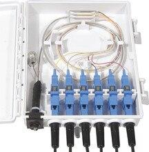 Ftth 6 núcleos caixa de terminação de fibra 6 portas 6 canais divisor caixa de fibra óptica ao ar livre indoor ftb abs