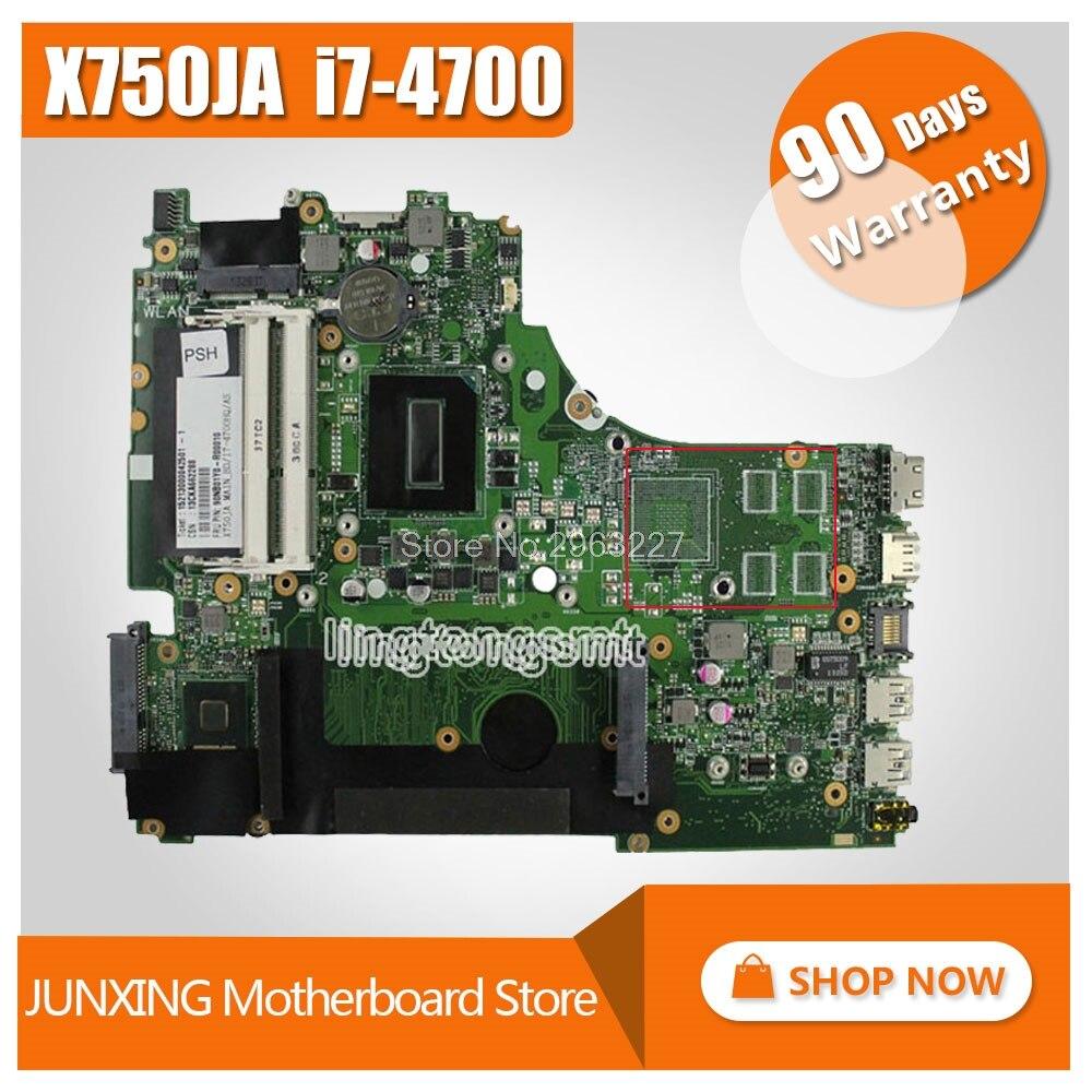 For Asus K750J K750JA X750JA Motherboard X750JB REV2.0 Mainboard With i7-4700HQ 100% Tested&90 Warranty days