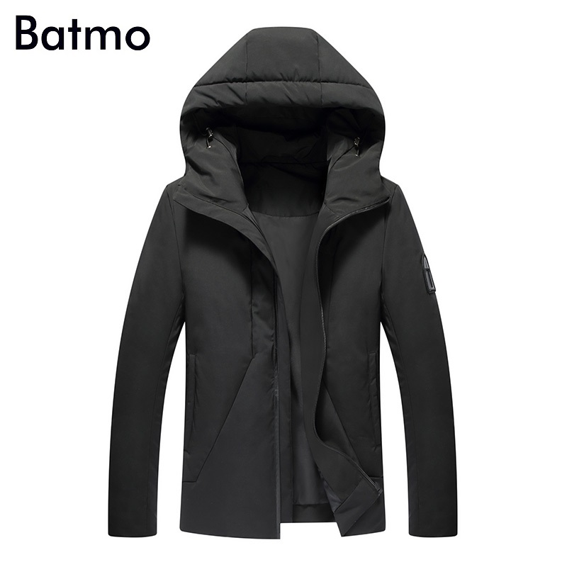 Batmo 2017 new arrival winter 85% white duck down jacket men,hooded winter coat men,4 color,M-3XL.YZ005