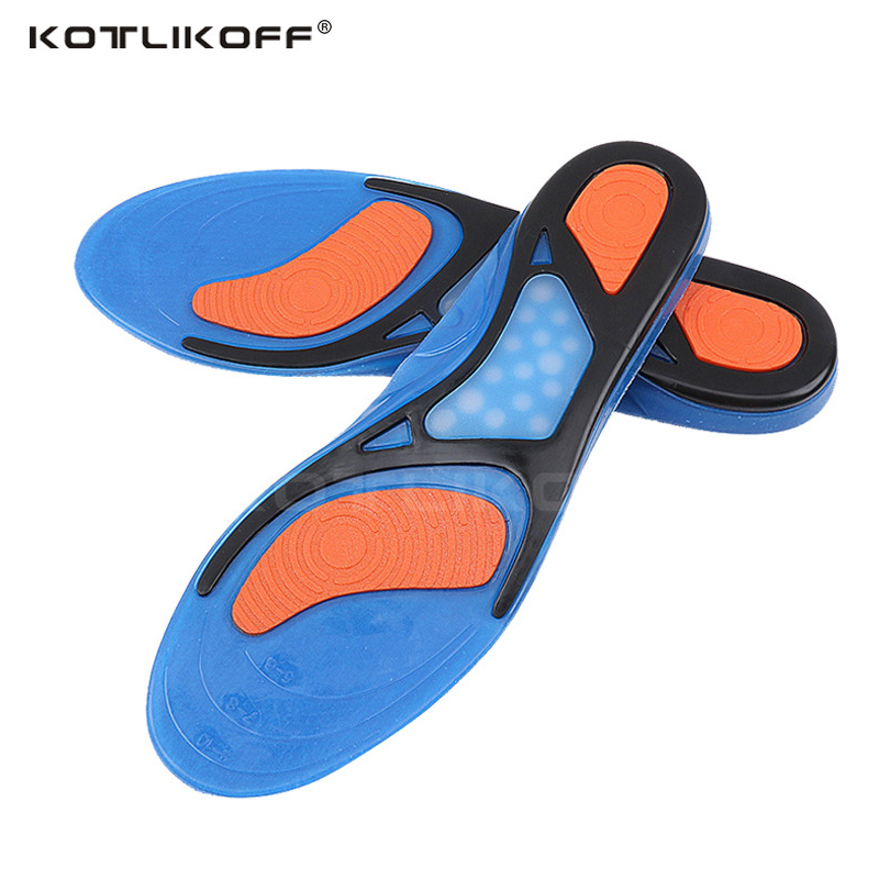 KOTLIKOFF Gel Insoles Breathable Comfortable Silicone Inserts Deodorant shock absorption shoe Insoles Foot Pain Relieve Cushions
