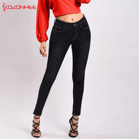 Modis Stretch Thicken push up Jeans Warm Pencil Women Plus Size Elasticity skinny jeans woman #39