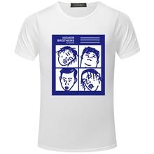 57c103e42 Hip Hop Higher Brothers Worldwide Men's T-Shirt Cartoon Funny Print Tee Tops  Fashion Short