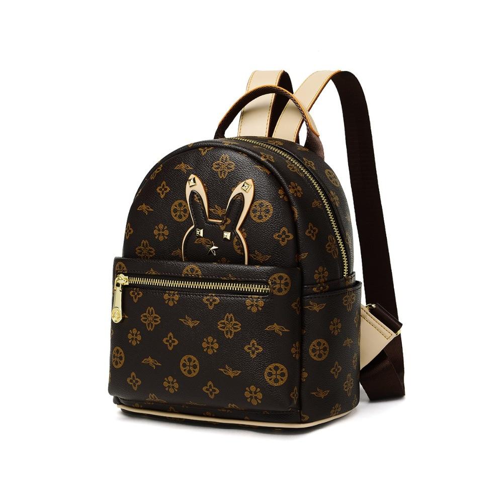 Sac à dos femme en PVC sac à bandoulière de mode sac à dos à cordon imprimé classique sac d'école de Style Preppy sac à bandoulière de grande marque
