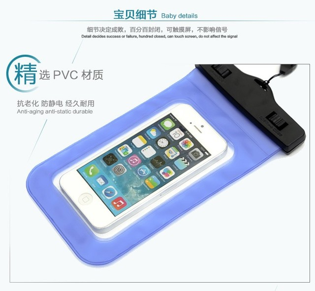 outlet store b37a3 fe6f6 PVC Waterproof Diving Bag For Mobile Phones Underwater Pouch Case For  Lenovo P70 P70t P 70 Universal Sealed Bags Cover-in Phone Pouch from  Cellphones ...