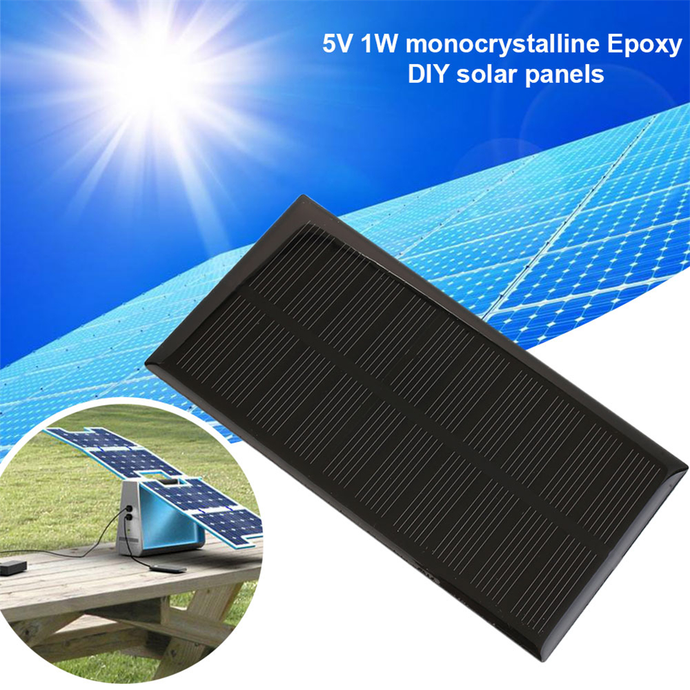 BCMaster 5V 1W Portable Module DIY Small Solar Panel Cellular Phone Charger Home Light Toy etc Solar panel Cells
