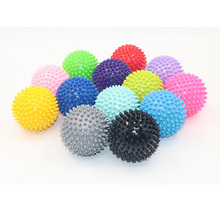 Hot Sale 75mm Durable PVC Spiky Massage Ball Trigger Point Sport Fitness Hand Foot Pain Relief Trustworthy One Dripship