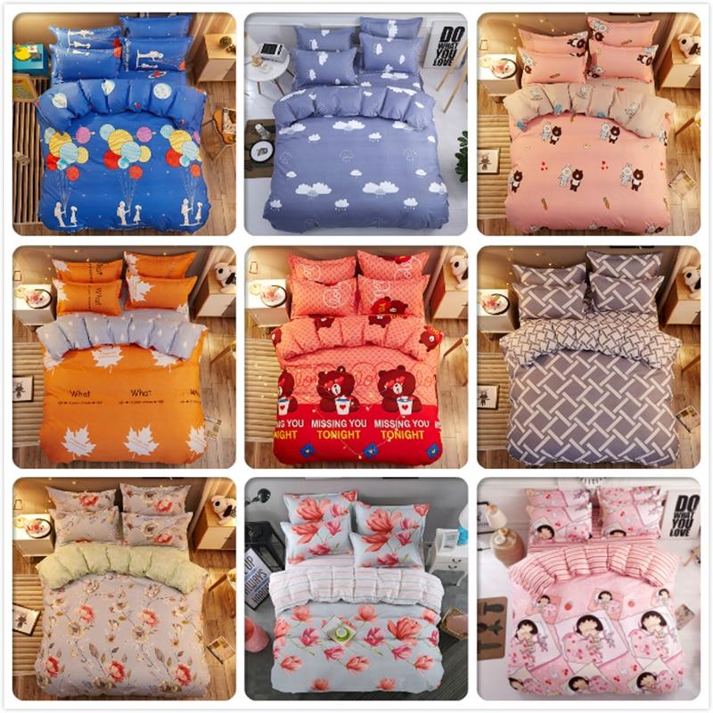 Power Source Soft Cotton Skin Fabric Bedlinen 3pcs/4pcs Bedding Set Single Twin Full Queen Size Duvet Cover Bed Linen Sheet Pillow Quilt Case Meticulous Dyeing Processes
