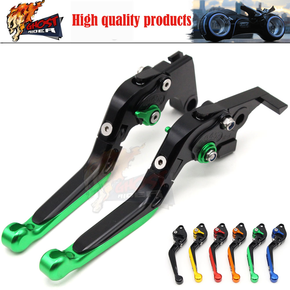 ФОТО Adjustable Foldable Extendable Motorbike Brakes Clutch CNC Levers Kawasaki NINJA 650R ER6F ER6N F Z750 Z800 Z1000 ZX9R ZX10R ER5